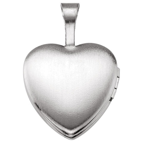 Sterling Silver Baptism Heart Locket