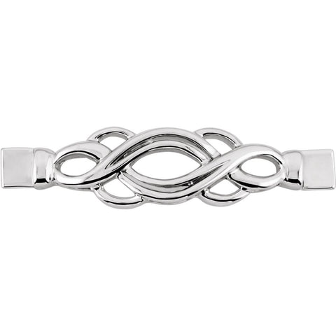 Fashion Bracelet Center in 14K White Gold