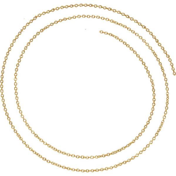"14k Yellow Gold 1.5mm Solid Cable 18"" Chain"