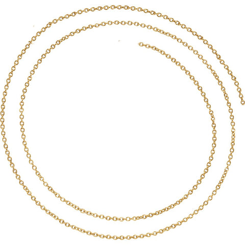 14K Yellow Gold 1.5mm Solid Cable 18-Inch Chain