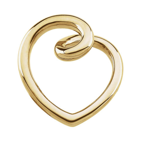 Gold Fashion Heart Pendant in 14k Yellow Gold