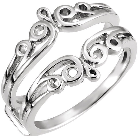 All Metal Ring Guard in 14k White Gold ( Size 6 )