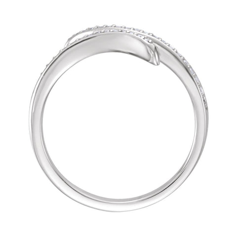 14k White Gold 1/6 CTW Diamond Ring, Size 7