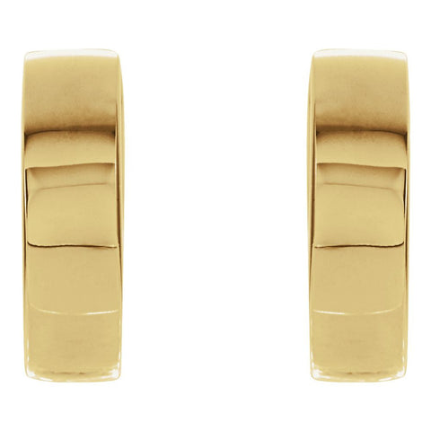 18k Yellow Gold 14.5mm Hinged Earrings