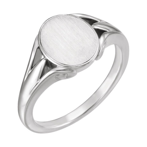 Sterling Silver Signet Ring for Men, Size 11