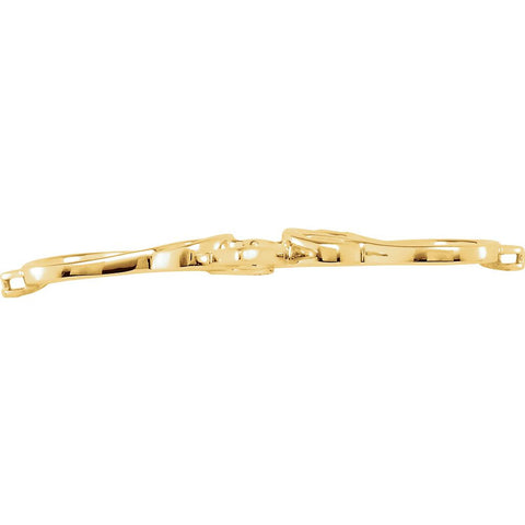 14k Yellow Gold Bracelet Center