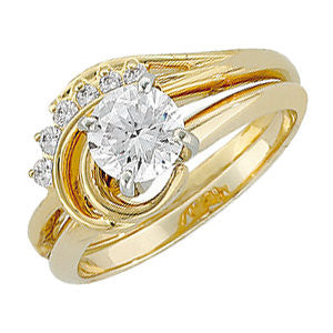 14k Yellow Gold Wrap-Style Ring Enhancer, Size 6