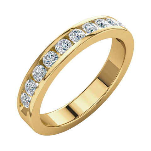 1/2 CTTW Round Diamond Anniversary Band in 14k Yellow Gold (Size 6 )
