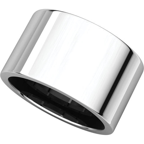 Sterling Silver 12mm Flat Band, Size 7