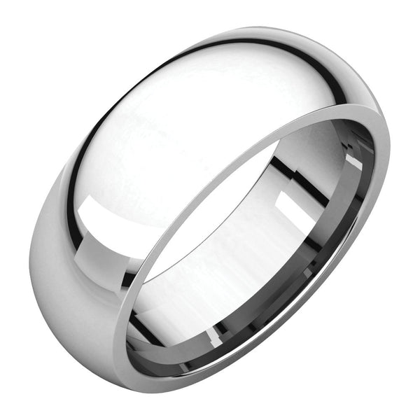 Sterling Silver 7mm Comfort Fit Band, Size 10