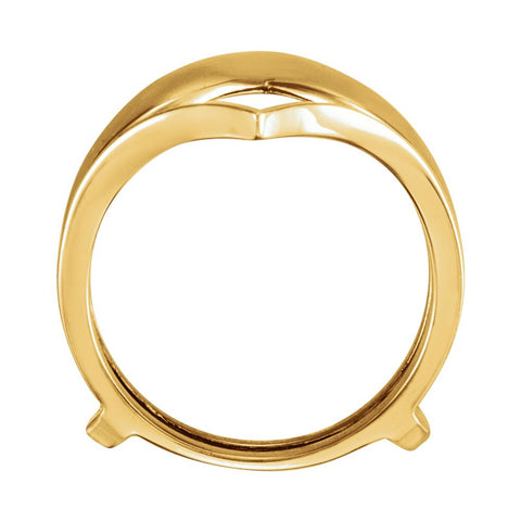 14k Yellow Gold Metal Ring Guard, Size 6
