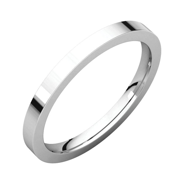 Sterling Silver 2mm Flat Band, Size 7