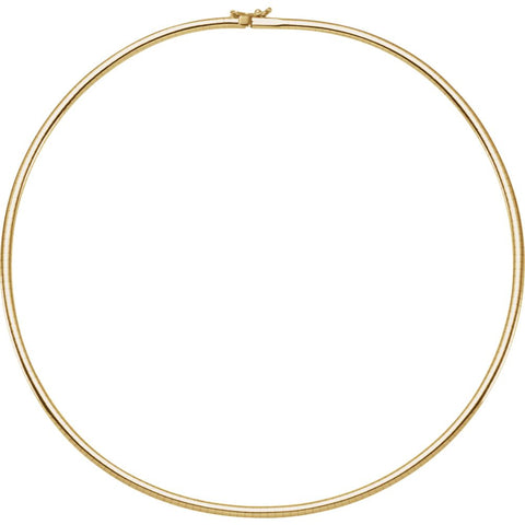 "14k Yellow Gold 3mm Omega 18"" Chain"