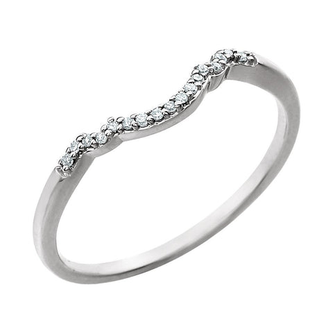 14k White Gold .05 CTW Diamond Band, Size 7