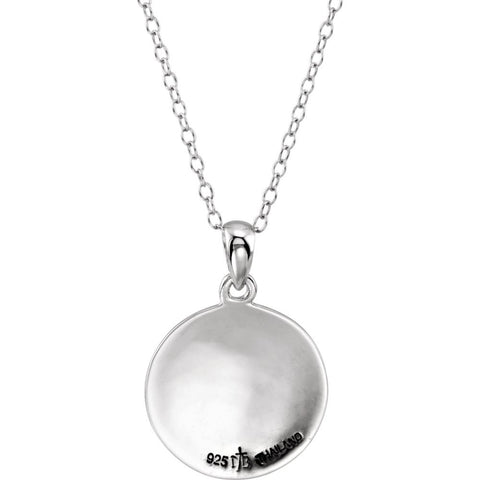 "Sterling Silver Water Baptism 18"" Necklace"