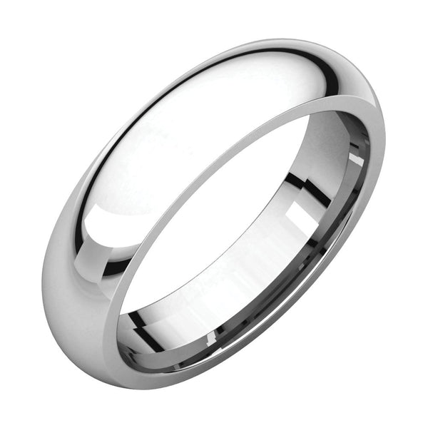 Sterling Silver 5mm Comfort Fit Band, Size 10