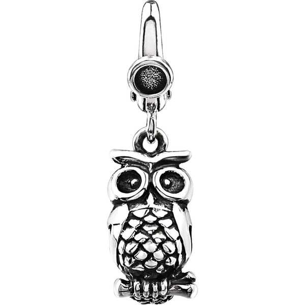 Sterling Silver Owl Charm