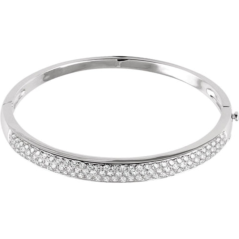 14K White Gold 3 CTW Diamond Pave' Bracelet