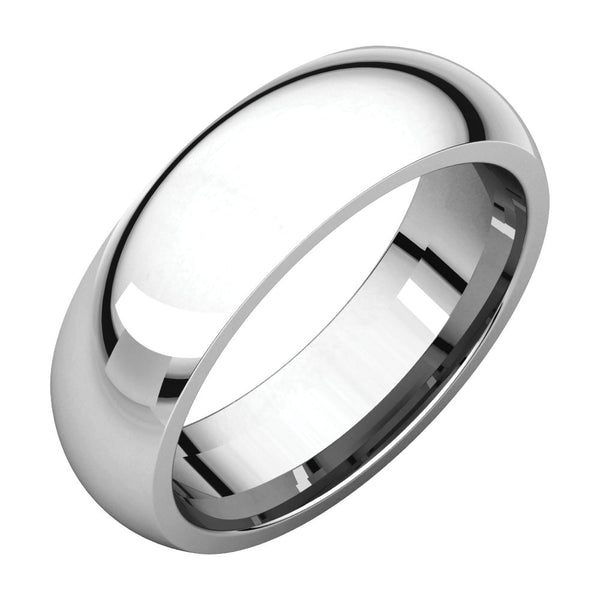 Sterling Silver 6mm Comfort Fit Band, Size 10