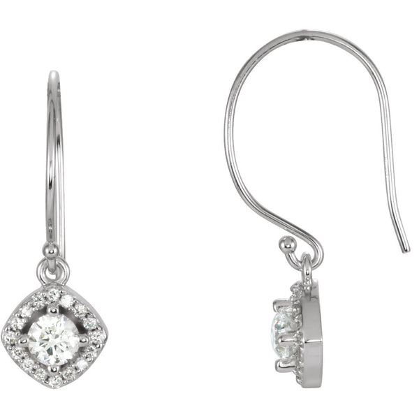 14k White Gold 5/8 CTW Diamond Earrings