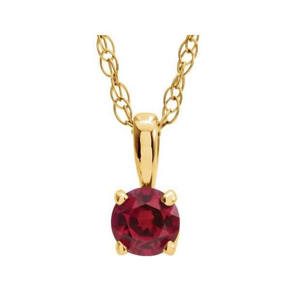 14k Yellow Gold Chatham® Created Ruby
