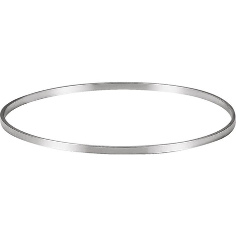 Sterling Silver 2.25mm Bangle Bracelet