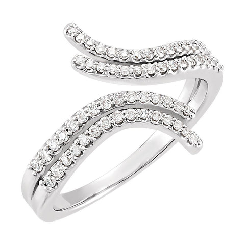 14k White Gold 1/4 ctw. Diamond Ring, Size 7