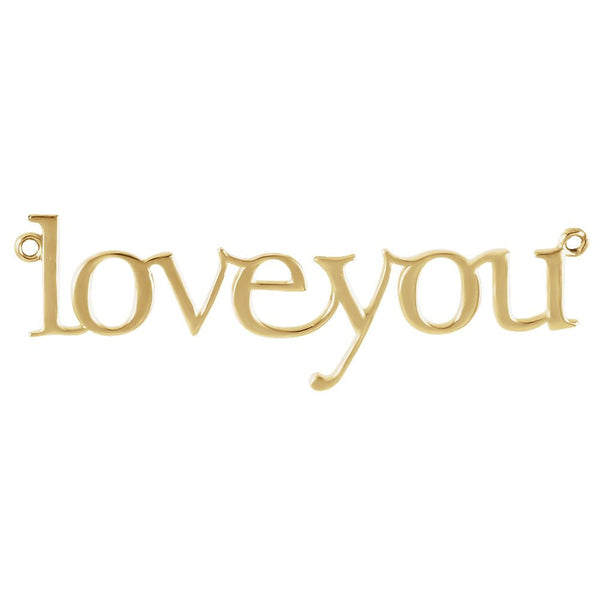 "14k Yellow Gold ""Love You"" Neck Trim Pendant Mounting"