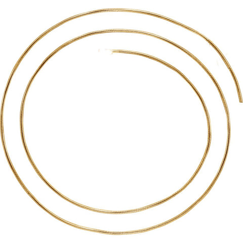 1.0 mm Round, Snake Chain in 14k Yellow Gold ( 16-Inch )