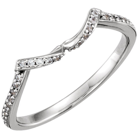 14k White Gold .08 CTW Diamond Band, Size 7.5