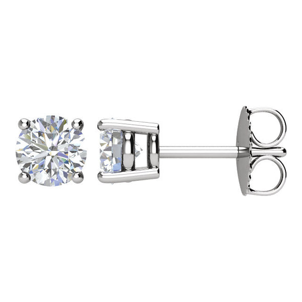 14k White Gold 1 CTW Diamond Earrings