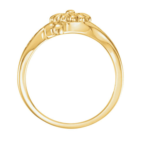 10k Yellow Gold Love Waits Chastity Ring with Packaging, Size 6