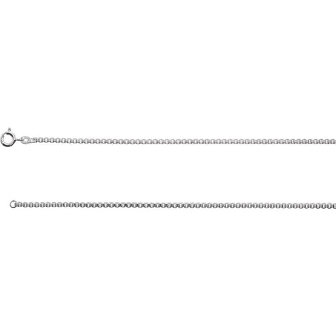 Sterling Silver 2mm Diamond Cut Box 18-inch Chain with Spring Ring Clasp