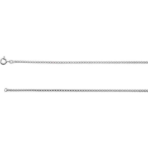 "Sterling Silver 2mm Box 16"" Chain with Spring Ring Clasp"