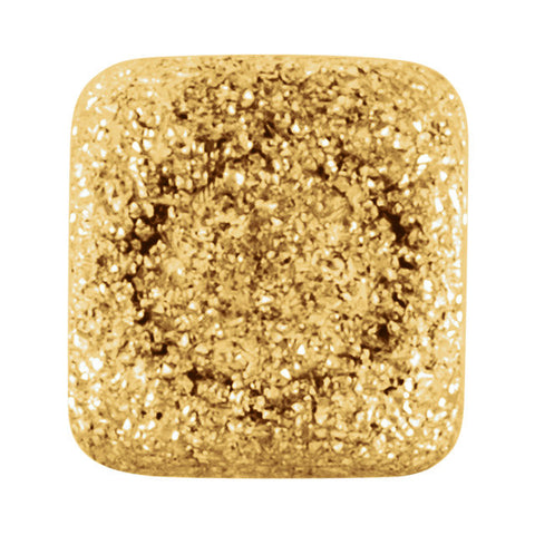 14k Yellow Gold 4mm Pavé Square Bead