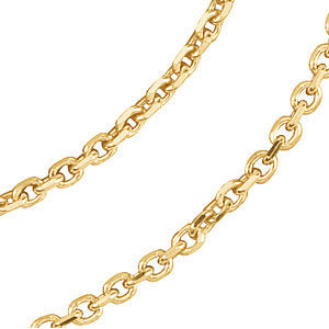 "14k Yellow Gold 1.75mm Solid Diamond-Cut Cable 7"" Chain"