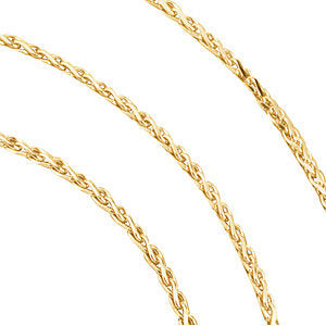 "14k Yellow Gold 1mm Diamond Cut Wheat 20"" Chain"