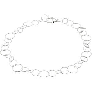 "Sterling Silver Twisted Link 18"" Chain"