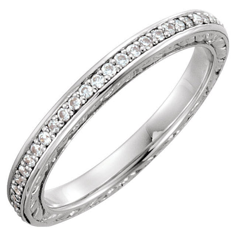 14k White Gold Band Mounting, Size 7