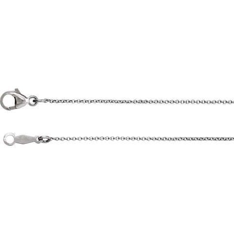 Platinum 18-inch Rolo Chain ( Length: 18 In )