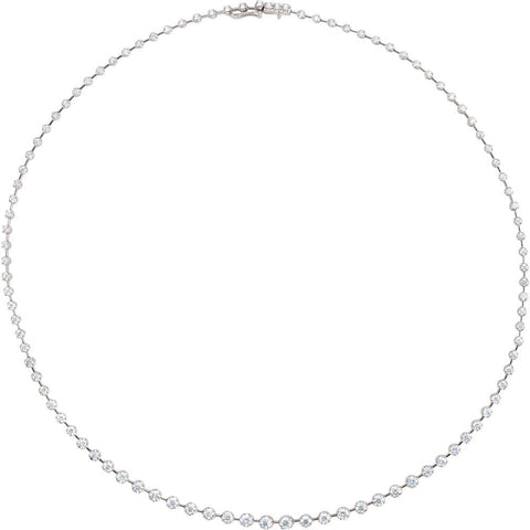 5 CTW Diamond 18-Inch Necklace in 14K White Gold