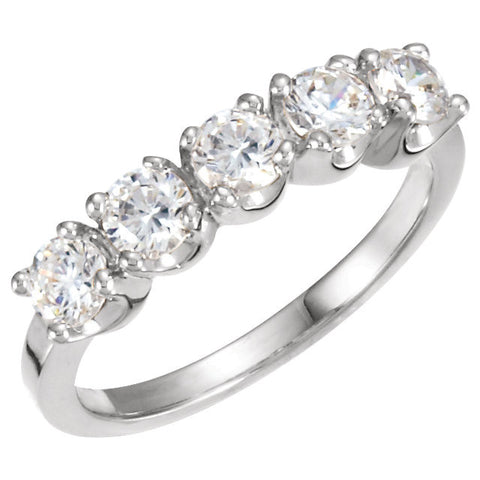 03.80 mm Diamond Band in Platinum ( Size 6 )