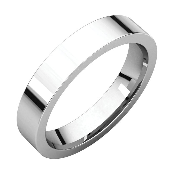 Sterling Silver 4mm Flat Band, Size 7
