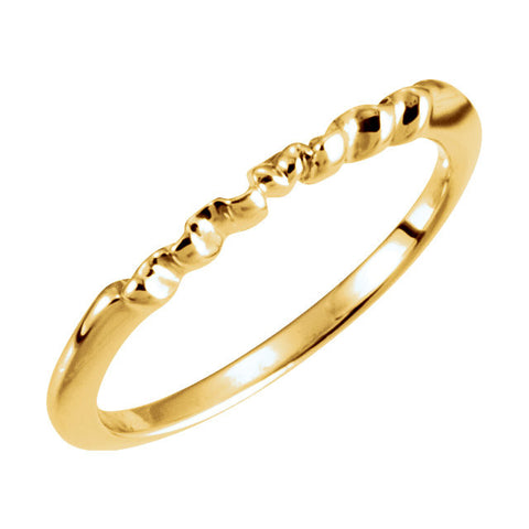 14k Yellow Gold Band, Size 6.25
