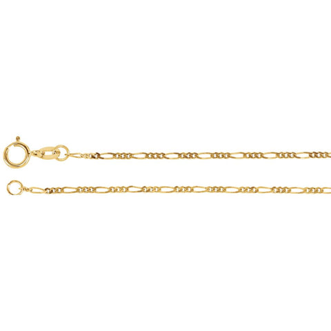 1.25 mm Figaro Chain in 14k Yellow Gold ( 16-Inch )