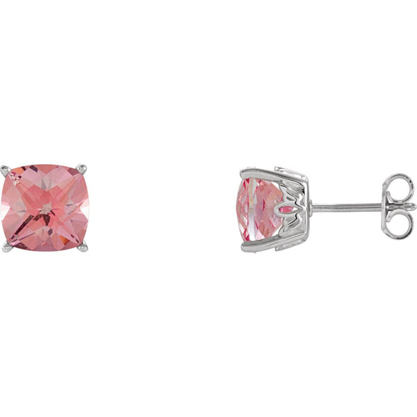Sterling Silver Pink Passion Topaz Earrings