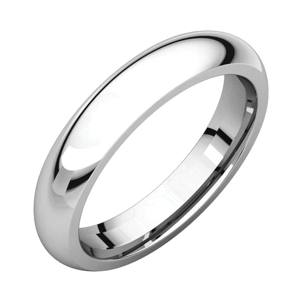 Sterling Silver 4mm Comfort Fit Band, Size 10
