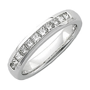 3/4 CTTW Men's Princess-Cut Diamond Ring in 14k Yellow Gold ( Size 11 )