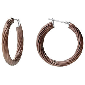 Pair of Amalfi Immersion Plated Stainless Steel Twisted Hoop Earrings