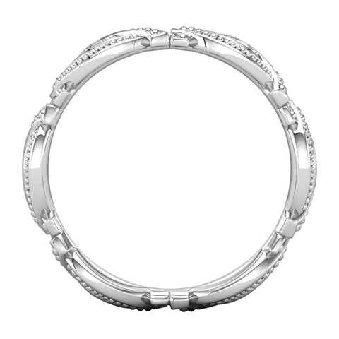 Platinum 1/6 CTW Diamond Eternity Band Size 7